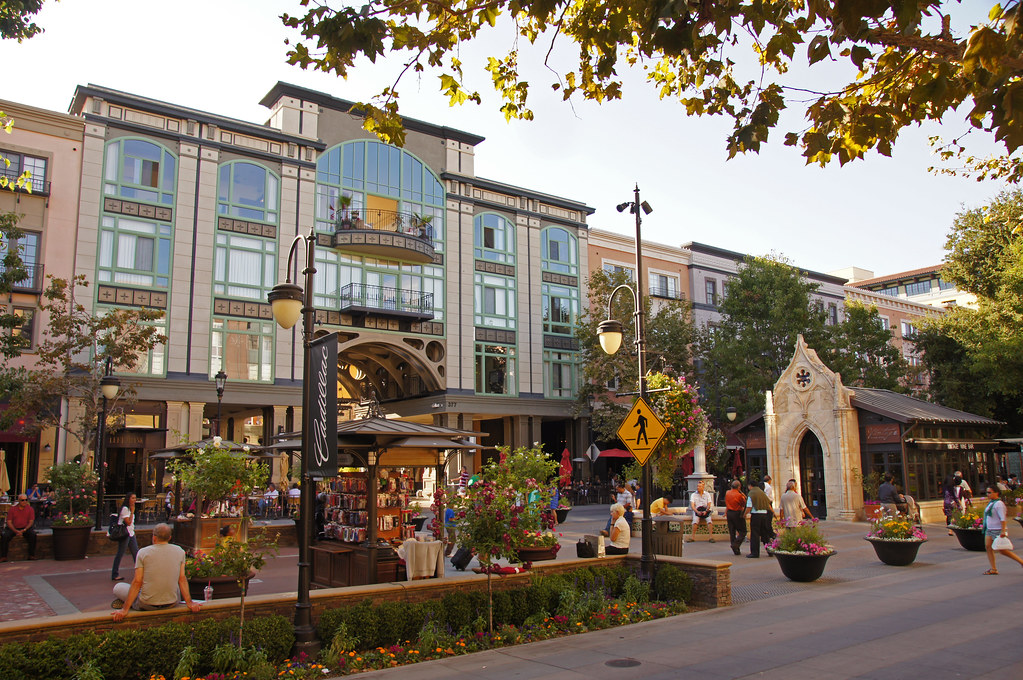 An image of Santana Row in San Jose, CA.